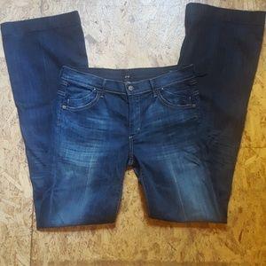 COH Hutton Med Rise Wide Leg Jeans